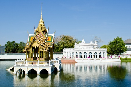 The Bang Pa-in Palace in Ayuthaya Province, Thailand photo