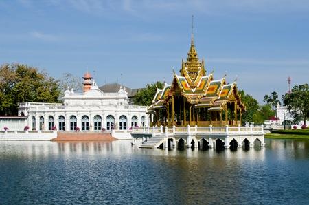 Aisawan-Dhipaya Asana Pavillion at Bang Pa-in Palace, Ayuthaya province, Thailand. photo