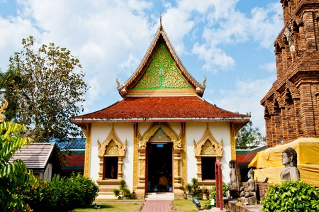 lamphun: Landscape of Wat Phrathat Hariphunchai temple, Lamphun province, Thailand.