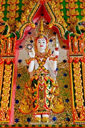 Thai molding art on the wall, Watprongaregard temple, Thailand Stock Photo - 12881424
