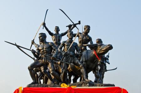 Bangrajun emlékmű Singburi tartomány, Thaiföld.