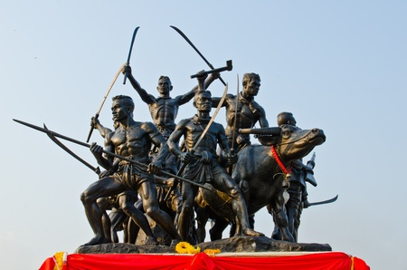Bangrajun monument at Singburi province, Thailand.