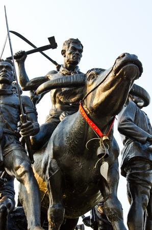 singburi: Bangrajun monument at Singburi province, Thailand.