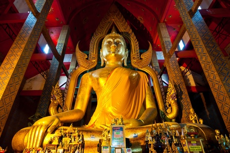 Beautiful golden buddha at Wat Tonson, Angthong province, Thailand.