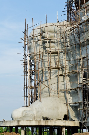 Big foot of ganesha statue under construction, Thailand.