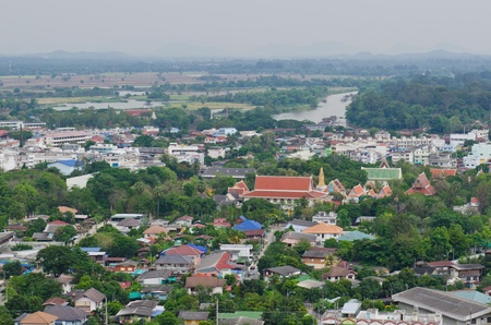 Bird view of U-thaithani province, Thailand. photo
