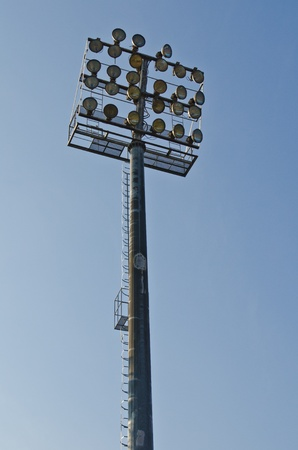 Torre de iluminaci�n del estadio, Thauland. photo