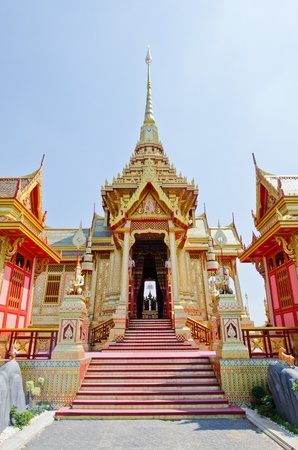 The royal crematorium in the royal cremation ceremony, Thailand