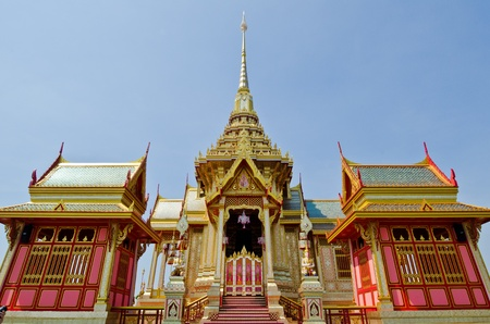 pyre: The royal crematorium in the royal cremation ceremony, Thailand  Editorial
