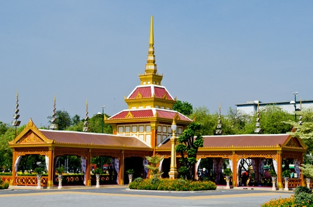 Some building in the royal cremation ceremony, Thailand. Stock Photo - 13336763