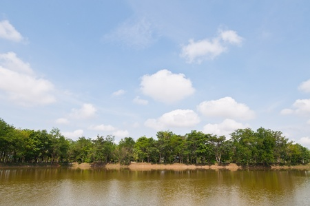 Landscape of sakaeo pond at sakaeo province, Thailand  photo