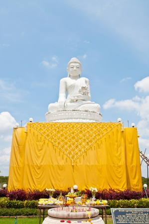 Buddha statue made from white jade, Thailand. photo