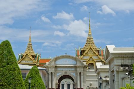 Beautiful building of Wat Phra Kaew, Bangkok, Thailand. photo