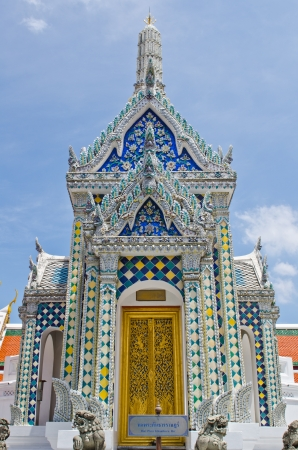 Hor Phra Khanthara Rat building at Wat Phra Kaew temple, Bangkok, Thailand. photo