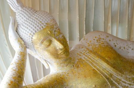 White reclining buddha, Thailand Stock Photo - 15092113