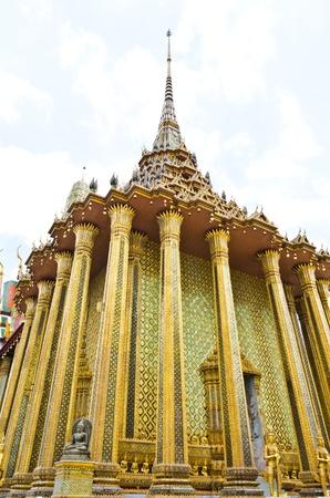 vihara: Beautiful vihara of Wat Phra Kaew temple  of Wat Phra Kaew temple, Thailand  Stock Photo