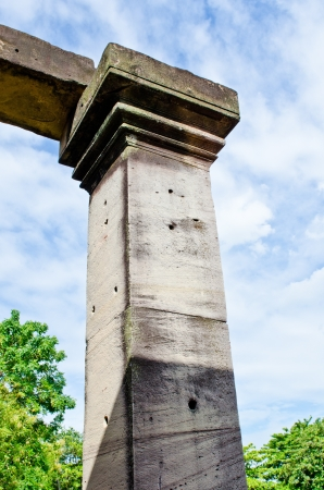Some Detail of The Principal Tower at Phimai Historical Park, Thailand  Stock Photo