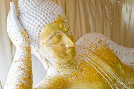 White reclining buddha, Thailand