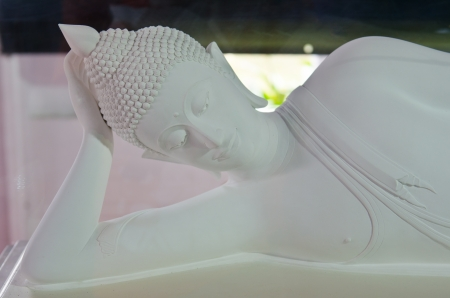 White reclining buddha, Thailand  Stock Photo - 15331890