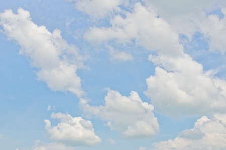 Blue sky and white clouds, Thailand. Stock Photo - 15386866
