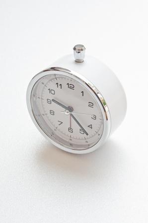 White clock on white screen, Thailand. Stock Photo - 15467712