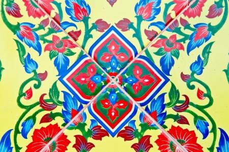 Háttér thai stílusban művészet Watthanonhakyai templomban, Thaiföld.