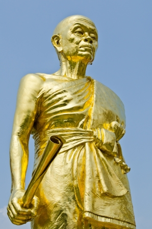 Luangporkoon statue at Watbanrai temple, Thailand  photo