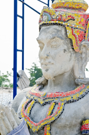 Statue of king under construction, Thailand  photo