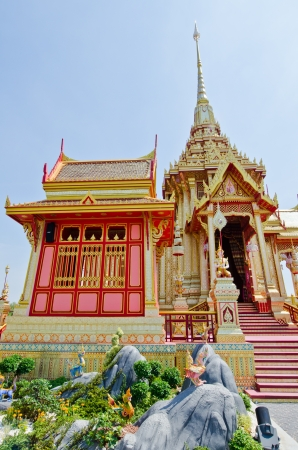 pyre: The royal crematorium in the royal cremation ceremony, Thailand. Stock Photo