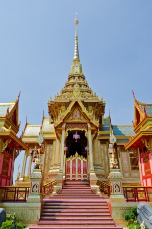 The royal crematorium in the royal cremation ceremony, Thailand. photo