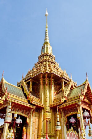 The beautiful royal crematorium in the royal cremation ceremony, Thailand. photo