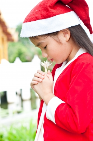 Santa girl in Thai style, Thailand. photo