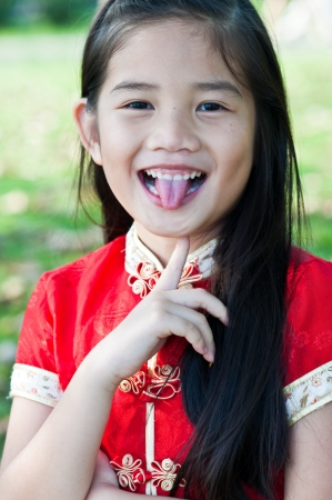 China girl in Thai style, Thailand. photo
