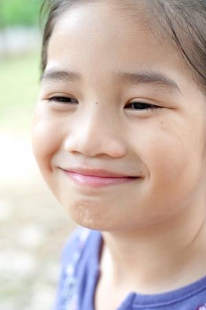 Head shot portrait of lovely asian girl, Thailand  Stock fotó
