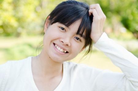 Portré thai gyönyörű lány, Thaiföld