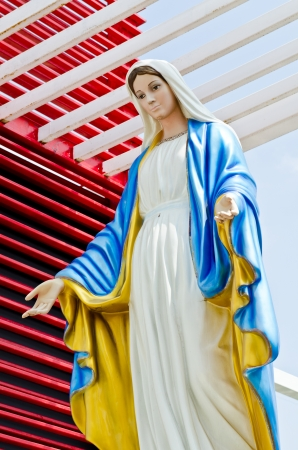 Virgin mary statue at Nakhonratchasrima province, Thailand. Stock Photo - 15954496