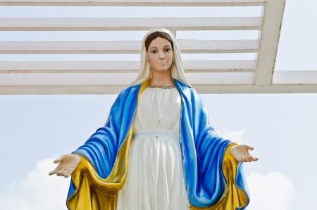 Virgin mary statue at Nakhonratchasrima province, Thailand. photo