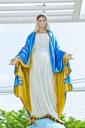 Szűz Mária szobor Nakhonratchasrima tartomány, Thaiföld. Stock fotó