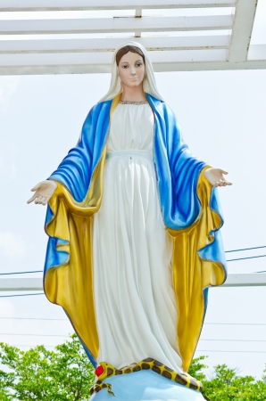 Virgin mary statue at Nakhonratchasrima province, Thailand.