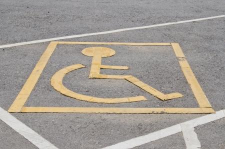 wheel chair: Symbol of wheel chair, Thailand.