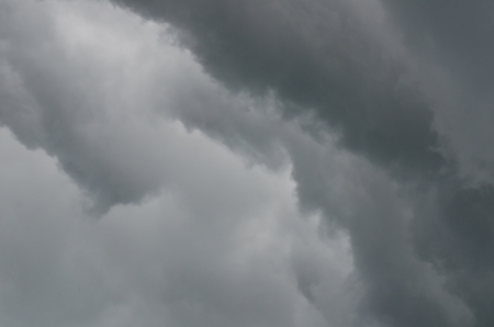 Black rainy cloud on white sky, Thailand. Stock Photo - 16560882