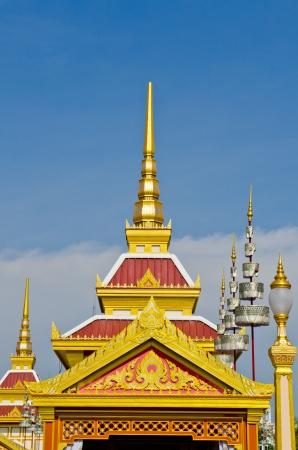 crematorium: Some building in the royal cremation ceremony, Thailand.