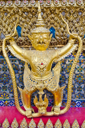 Golden Garuda Statue at Wat Phra Kaew temple, Bangkok, thailand photo