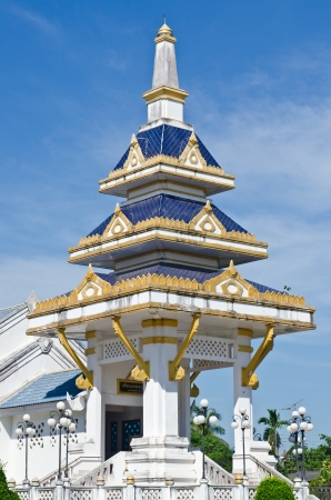 crematorium: The crematorium with blue sky in country, Thailand.