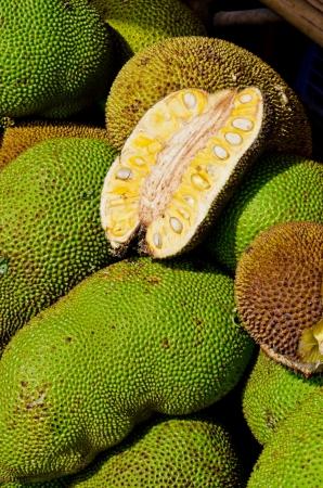 Jack fruit at the market, Thailand.