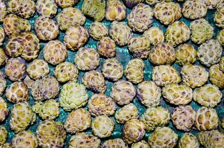 Group of custard apple at the market, Thailand. photo