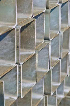 Csoport szögletes cső acél, Thaiföld.