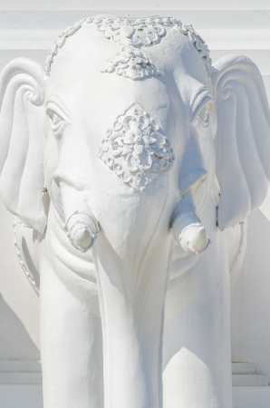 White elephant statue in public park, Thailand. photo
