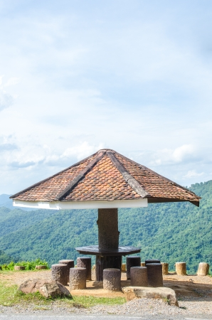 Public rest-house with national park, Thailand. photo