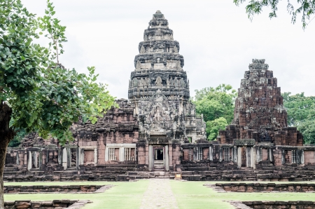 Landscape of Phimai historical Park, Thailand. photo